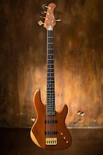Wolf 5 String Jazz Bass (Solid Bubinga Top)  neck through