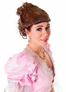 Ladies Victorian Lady Brown Wig Fancy Dress Costume Accessory Edwardian New