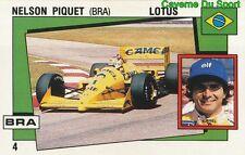 004 NELSON PIQUET BRAZIL LOTUS F1 STICKER SUPERSPORT 1988 PANINI RARE & NEW