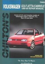 Volkswagen Golf, Jetta, and Cabriolet, 1990-98 (Chilton's Total Car-ExLibrary