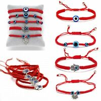 Charm Turkish Lucky Evil Eye Bracelets Women Handmade Braided Red Rope Jewelry