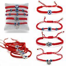 Charm Turkish Lucky Evil Eye Bracelets Women Handmade Braided Red Rope Jewelry