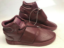 Adidas Tubular Invader Strap Maroon Leather 12 NEW Sport Shoes Mens BW0873