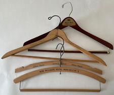 4 Vintage Wooden HOTEL Coat hangers HILTON MILLGATE MANCHESTER Squire Shop