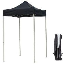 5'X5' Outdoor Pop up Canopy Gazebo Pavilion Tent Shelter White Frame W/Bag Black