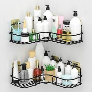 Corner Shower Caddy Shelf, 2-Pack Wall Mounted Shower Bathroom Shelf