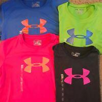 Under Armour HeatGear Girls UA Big Logo Tshirt 1230145 Youth Choose Color/Sizes