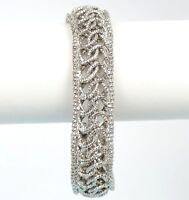 Solid Sterling Silver 925 Braided Mesh women's Fashion Italian Bracelet