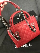 CHANEL Authentic Red Calfskin Tote Bag ❤️ Beautiful And Rare, Perfect Condition