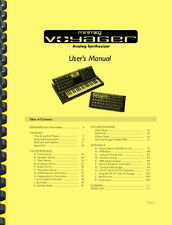 Moog Minimoog Voyager Rack Mount Edition RME Synthesizer OWNER'S MANUAL