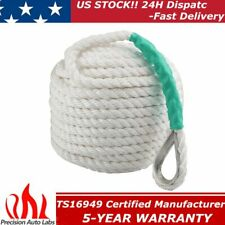 "1/2""x200' Twisted Three Strand Nylon Anchor Rope Boat Line Sailboat with Thimble"
