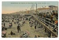 Postcard Boardwalk and Beach Stillwell Ave Coney Island NY
