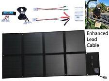 12V 120W Folding Solar Blanket Kit, Black Silicon Panel, Generator Power Charger