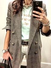 ❗️ZARA SMART WOOL BLEND PRINTED BLAZER JACKET COAT WITH BUTTON size L NEW