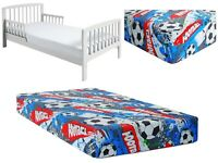 BABY FITTED JUNIOR BED SHEET 100% COTTON MATTRESS 160x80cm Football