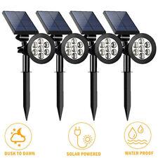 Solar Power Spot Light Outdoor 7 LED Garden Lawn Landscape Lamp 180° Rotatable