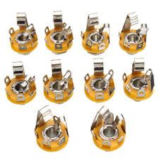 10Pcs 1/4inch 6.35mm stereo socket jack female connector panel mount Solder