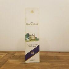 Macallan 1967 18 Year Old EMPTY BOX - RARE 750mL EMPTY BOX