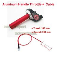 Handle Throttle Cable Red For SSR Thumpstar XR50 CRF50 KLX110 Pit Pro Dirt Bike