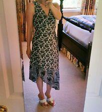 Michael Kors Sheer 2 Piece Paisley Navy Wrap High/Low Dress-Size 2P