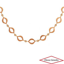 "Estate 18K Rose Gold 36"" Long Chain Necklace 19.3 Grams NR"