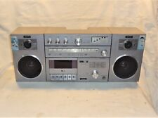 VINTAGE SCHMID 8080 AM/FM STEREO RADIO CASSETTE BOOMBOX GHETTOBLASTER * GERMANY