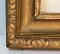 ANTIQUE HAND CARVED GILDED WOOD FRAME FOR PAINTING  15 X 11 INCH