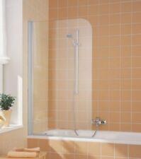 KERMI CADA Hinged Bath Screen 800 x 1400 Silver Right Hand Fix Art CADFR08014VPK