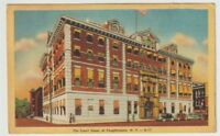 1956 Postmarked Postcard The Court House at Poughkeepsie New York NY