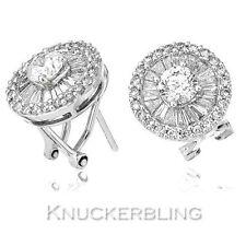 Leverback Cluster Fine Diamond Earrings