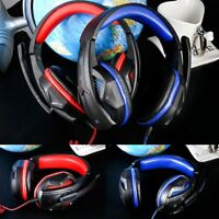 LED USB Stereo Gaming Headset Headband Headphone Earphone with Mic For PC Laptop