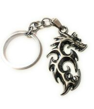 Awesome Solid Steel Dragon Chrome finish Key chain collectible cosplay keychain