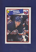 Brad Lauer RC 1988-89 O-PEE-CHEE OPC Hockey #226 (NM) New York Islanders