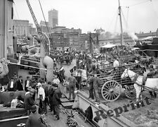 Photograph of New York City Banana Docks Year 1905   11x14
