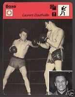 LAURENT DAUTHUILLE Boxing vs Robert Charron 1977 FRANCE SPORTSCASTER CARD 25-01A