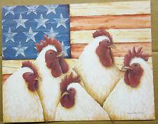 American Hens <Americana Chicken print 11 x 14 inches print