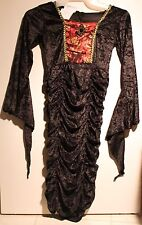 VAMPIRESS COSTUME Girls Small 4-6 Vampire Gothic Child Halloween Steampunk NEW