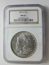 1890 P BU MORGAN DOLLAR VAM 29A NGC MS63 TOP 3 FINEST , High O, Die Gouges E