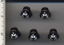 Star Wars LEGO x5 Black Minifig, Headgear Helmet SW Sith Trooper with Red Stripe