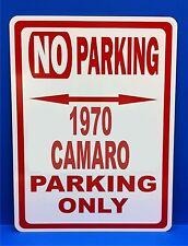 "1970 Camaro Chevrolet Novelty No Parking Street Sign 12""X18"" Aluminum"