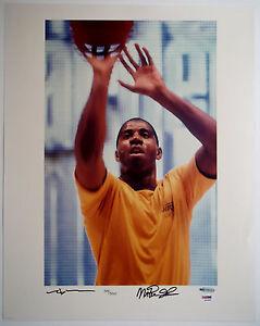 MAGIC JOHNSON & NEIL LEIFER Dual Signed 16x20 Lakers Photo #/500 UDA & PSA/DNA