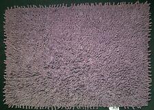 PURPLE MAUVE 100% SOFT COTTON  SHAGGY  RUG / BATH MAT 48cm x 67cm ONLY £4.99