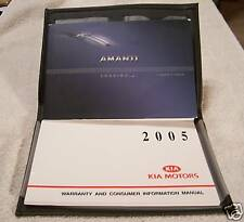 **NICE** 2005 Kia Amanti Owners Manual With Case 05