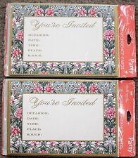 HALLMARK Floral Single-Panel Invitations for Party, Shower, Tea~16 Total~NIP