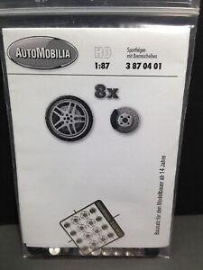HO 1/87 AutoMobilia DE # 3870401 Race Wheels  BMW-M (8)  Detail Parts