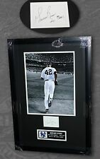 MARIANO RIVERA SIGNED JSA CERTIFIED CUT & PHOTO FRAMED 18x26 NEW YORK YANKEES