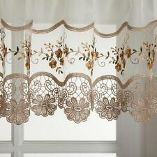 Vintage Kitchen Curtain - Gold, Rose, Blue - Tier Swag Valance - {BRAND NEW}