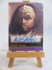 Star Trek movies In Motion autograph card A75 Rif Hutton as Klingon Guard