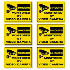 6pcs *Home Security video alarm  surveillance stickers  property protection
