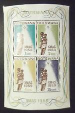 BOTSWANA XMAS 1969 MINT MINI SHEET